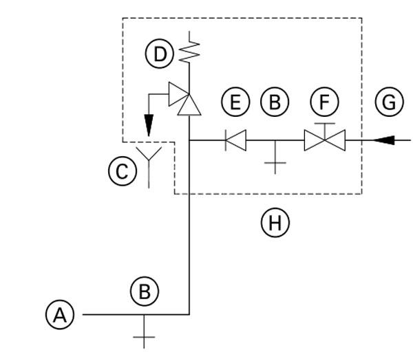 Монтаж трубопровода холодной воды для газового котла Viessmann Vitodens 050 W 24 кВт.