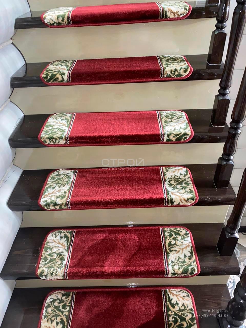 Прямоугольные коврики на ступени по заказу