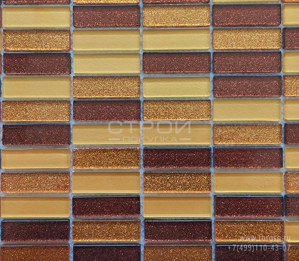 Стеклянная мозаика кофейная KG101M Golden Coffee китайского завода