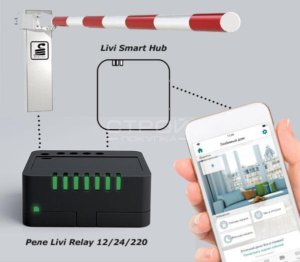Связь между устройствами умного дома и хабом Livi Hab.