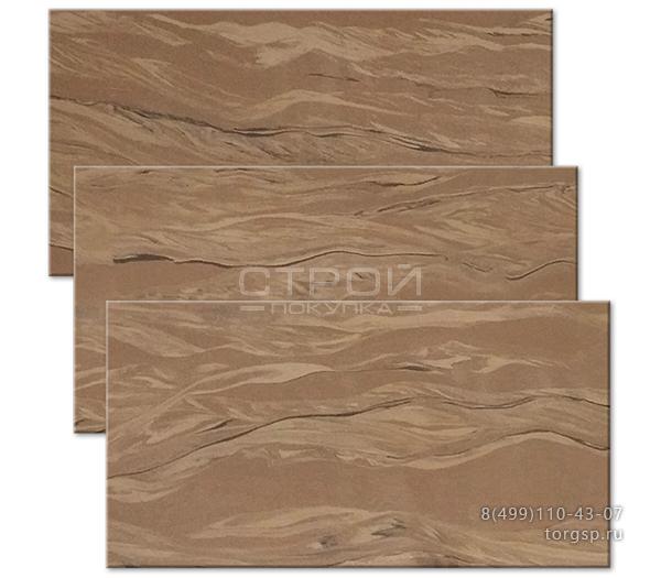 Гибкий камень кофе 3 в нарезке на плитку для фасада, цоколя, интерьеров.