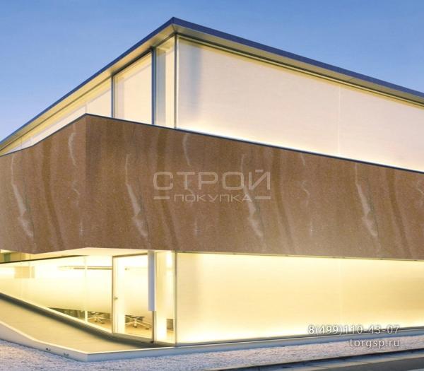 Гибкий камень Кофе 3 для фасада, каминов и интерьеров