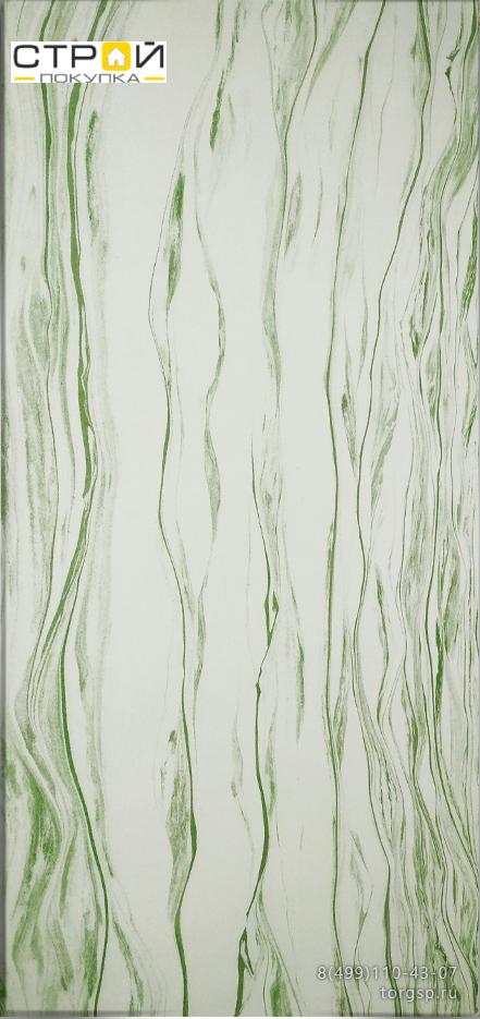 Влагостойкий гибкий камень Изумруд 1 светло-зеленого цвета.