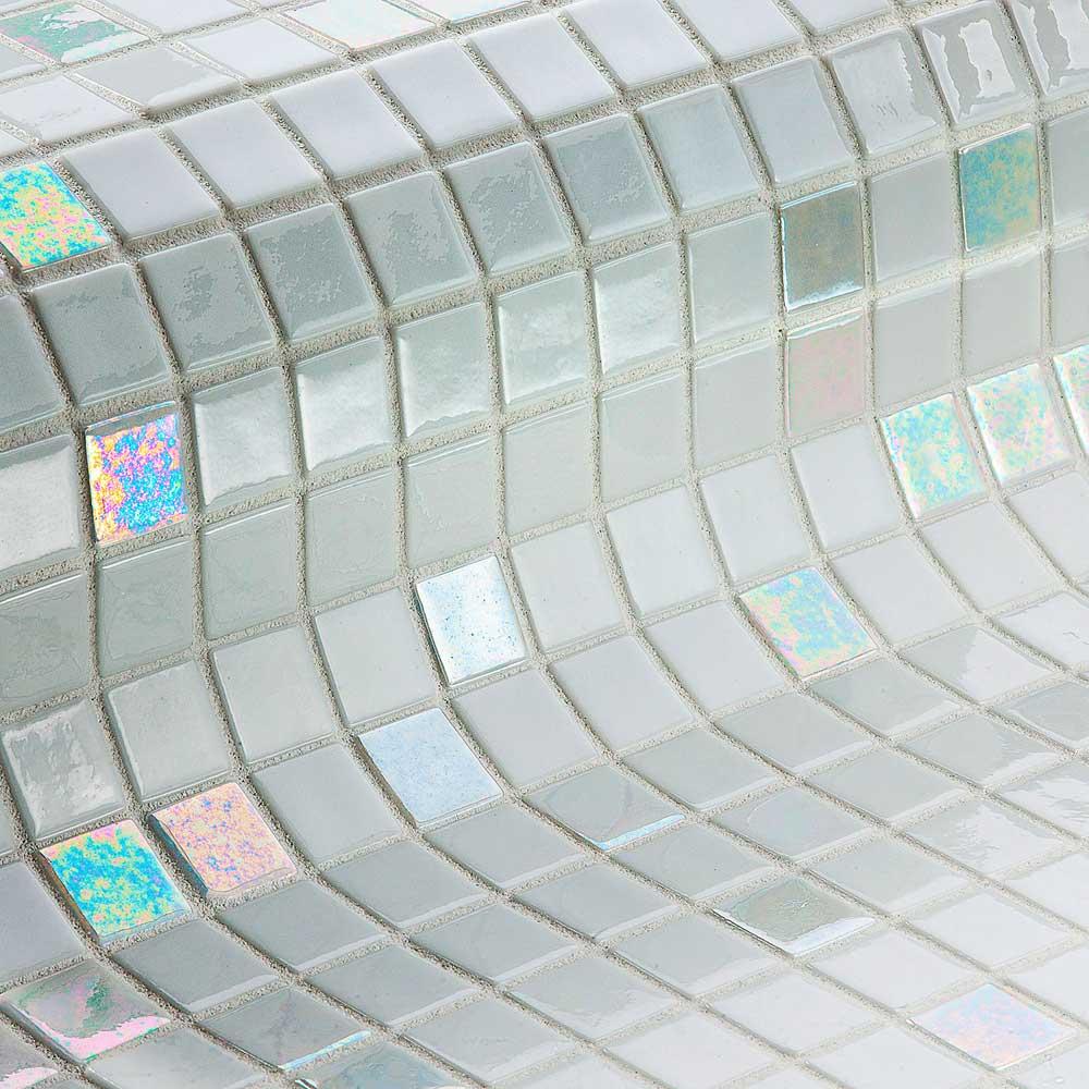 Мозаика Diamond Mix Iris — белый микс плитки Ezarri
