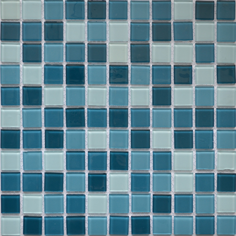 Мозаика KG25 микс голубой для отделки бассейна