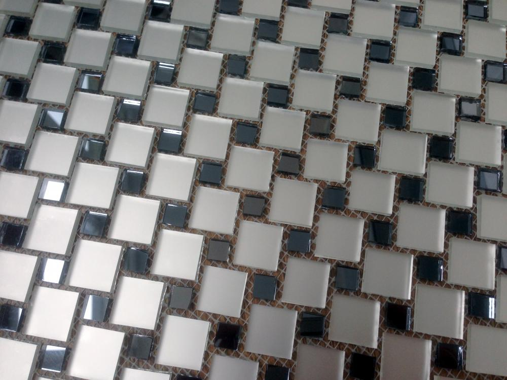 МD10 зеркальная мозаика Perla (серебро+графит)