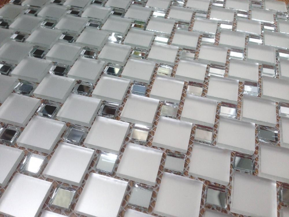 MS10 зеркальная мозаика Perla (серебро+матовое серебро)
