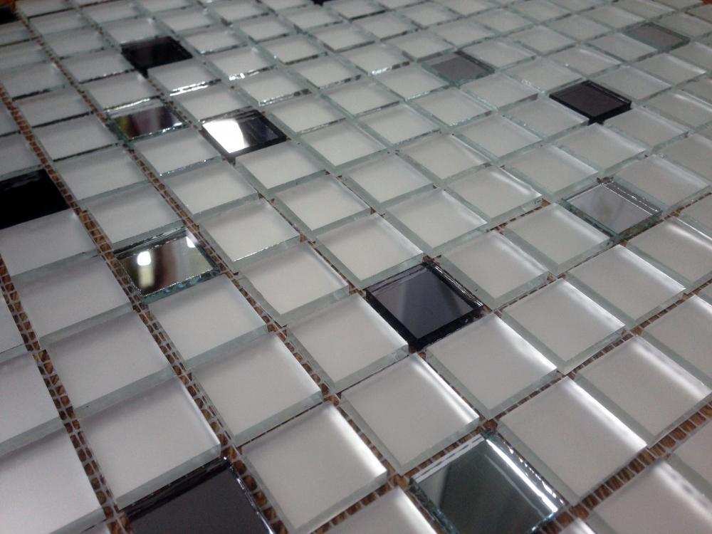 МSD20 зеркальная мозаика Perla (матовое серебро 90%, серебро 10%)