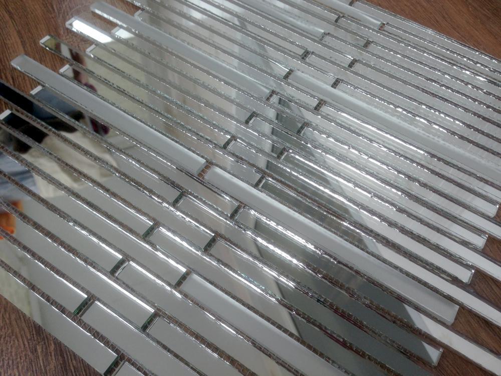 SM149‐2 матовая зеркальная мозаика Perla (серебро)