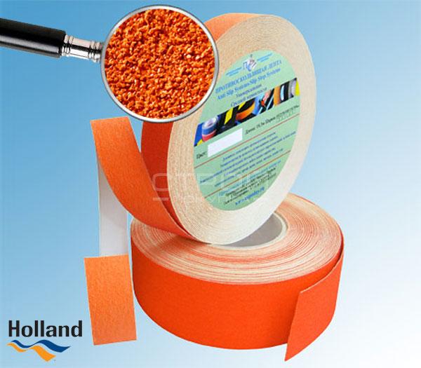 Оранжевая противоскользящая самоклеющаяся лента 50, 25 мм