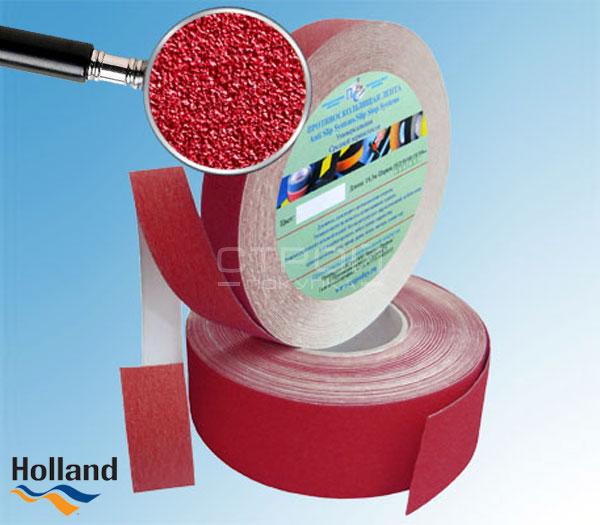 Красная противоскользящая лента 50 мм, 25 мм