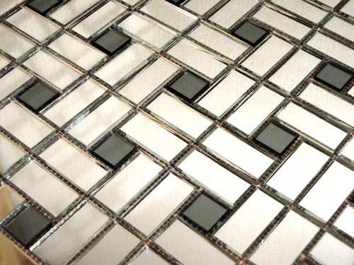 Зеркальная серо-серебряная мозаика  SD42-2 Deco