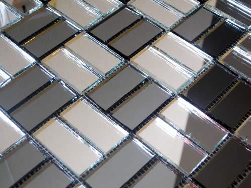 Зеркальная серо-серебряная мозаика  SD42‐5 Deco