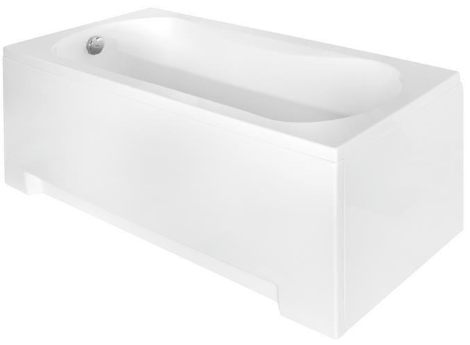 Вид сбоку на сидячую ванную 120х70 Aria Rehab.