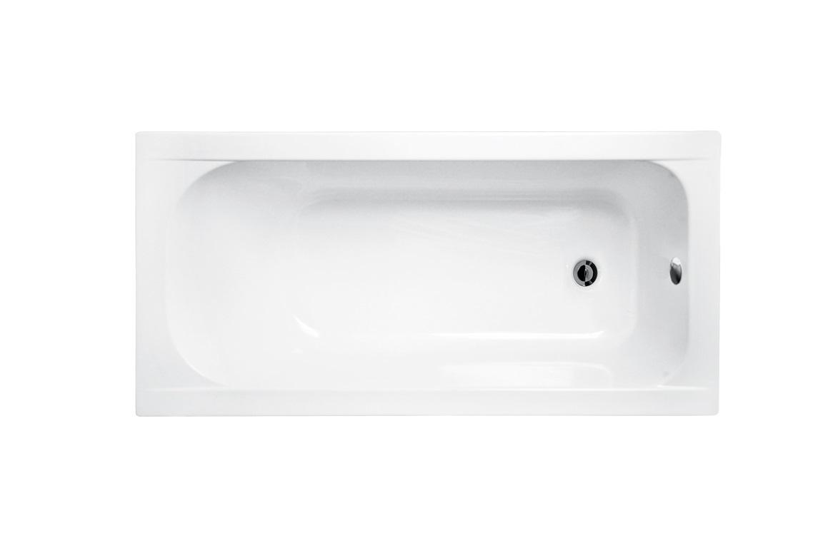 Ванна из санитарного акрила Continea Besco вид сверху.