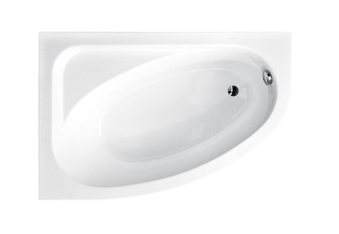 Ванна с скругленным углом Cornea Besco вид сверху.