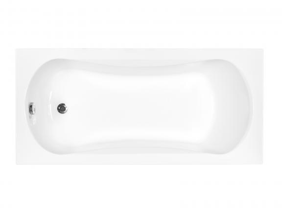 Белая маленькая акриловая ванная Aria 130 - фото сверху.