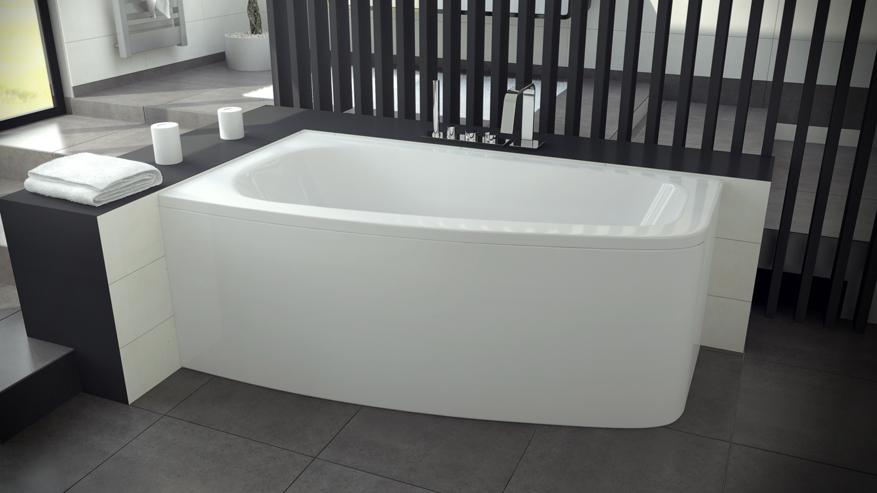 Ванна Luna 150 в интерьере ванной комнаты.