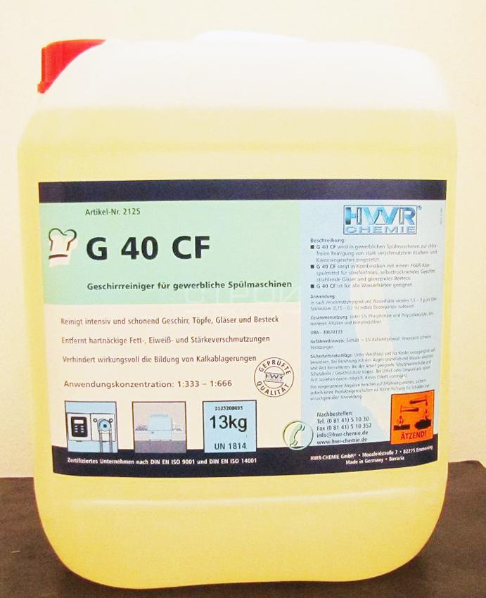 Промышленное моющее средство для посудомойки G 40 CF без хлора, для всех типов посудомоечных машин.