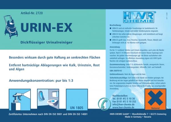 Канистра 10 литров очистителя унитаза Urin-EX.
