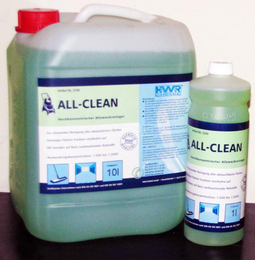 Этикетка Универсального щелочного очистителя All-Cean.