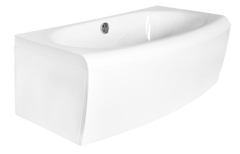Вид на отдельностоящую пристенную ванну Telimena Besco сбоку.