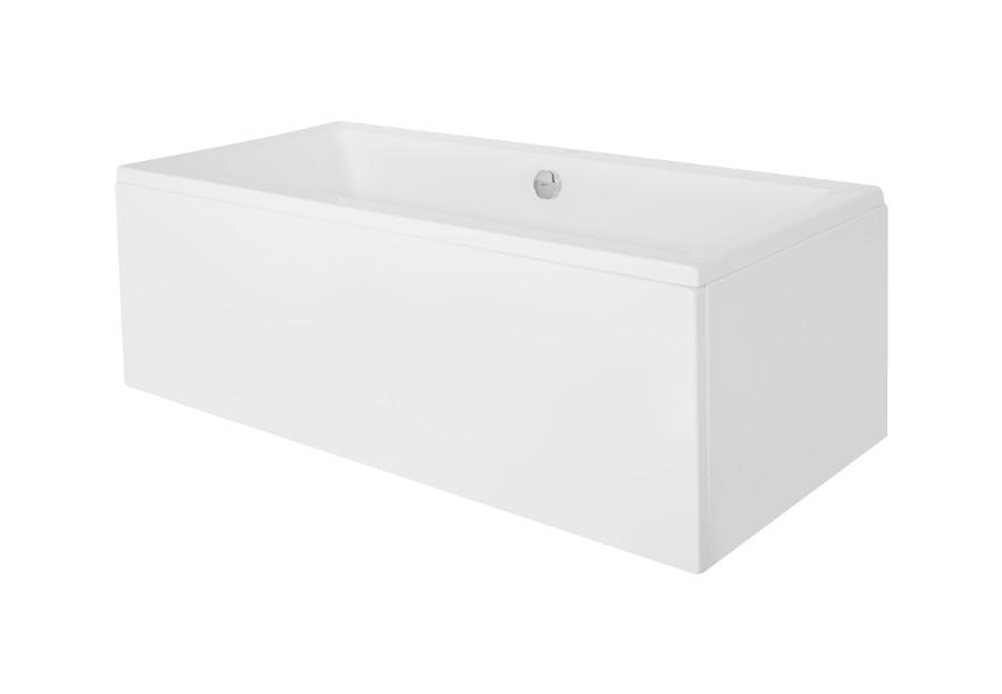 Акриловая ванна Besco Quadro с подголовниками  - вид сбоку.