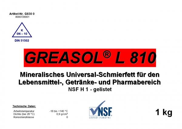 Силиконовые смазки для пищевой промышленности Greasol L810, 10л.