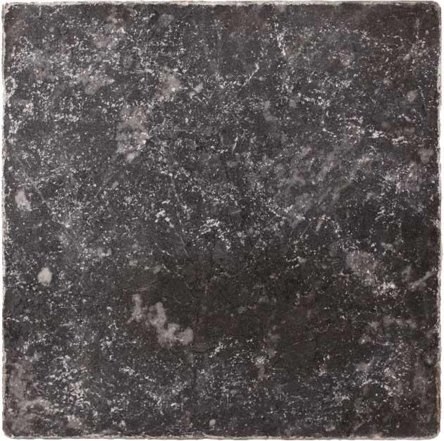 Плитка Black Marble Tumbled 20х20 из мрамора