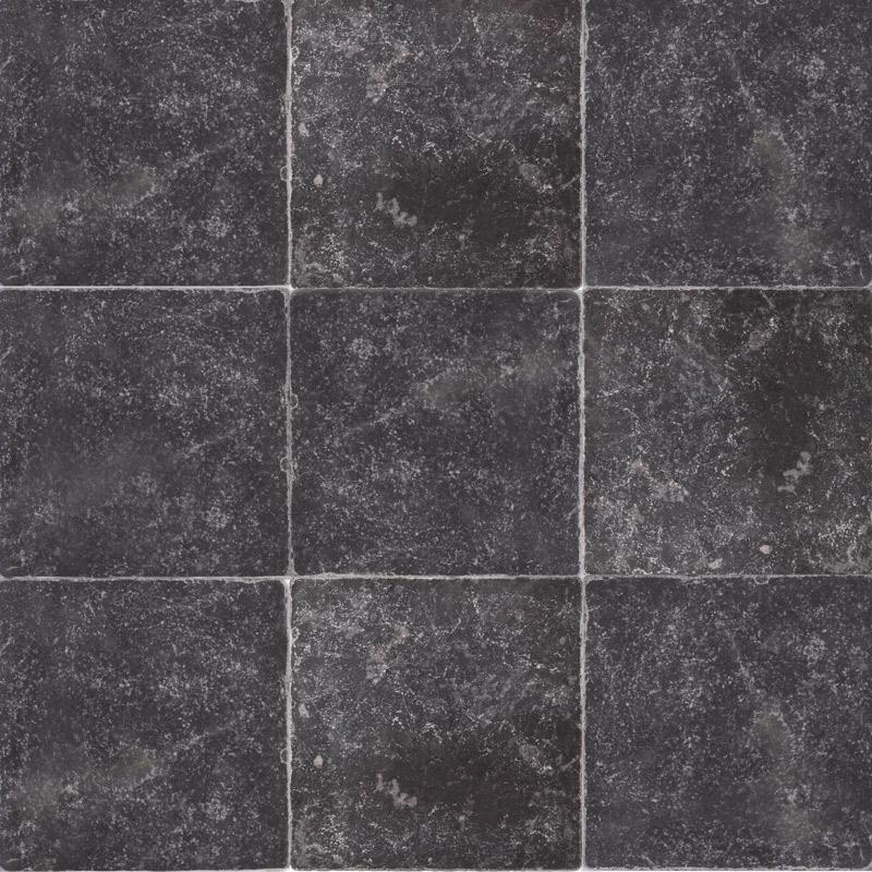 Плитка Black Marble Tumbled 10х10 из мрамора