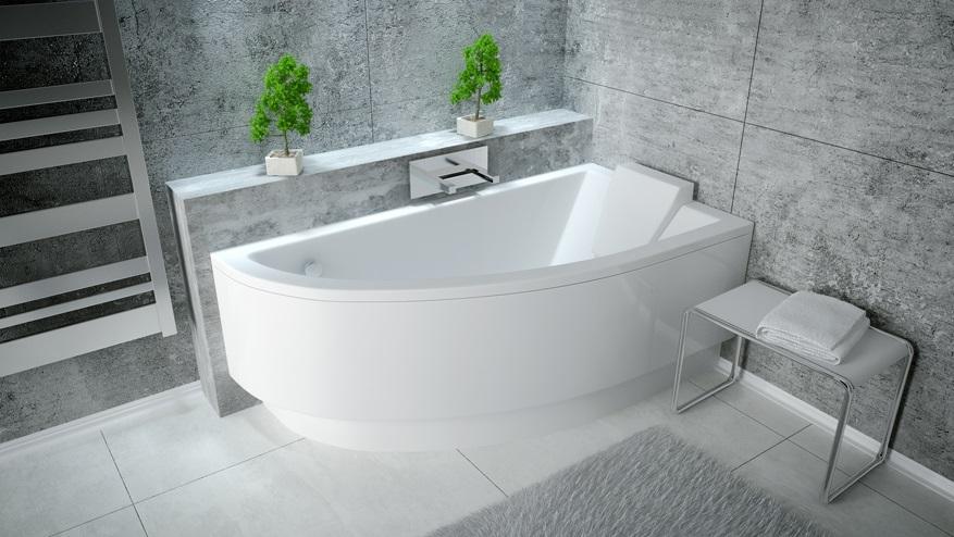 Акриловая ванна Praktika Besco 140х70 см, Ориентация: правая