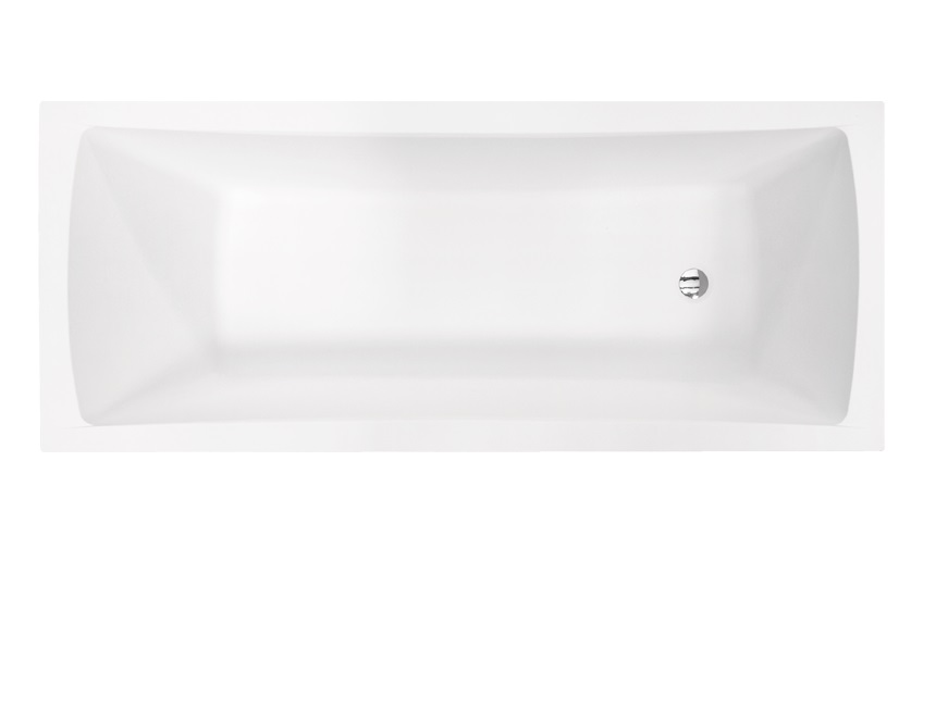 Акриловая ванна Optima 140х70 см вид сверху.