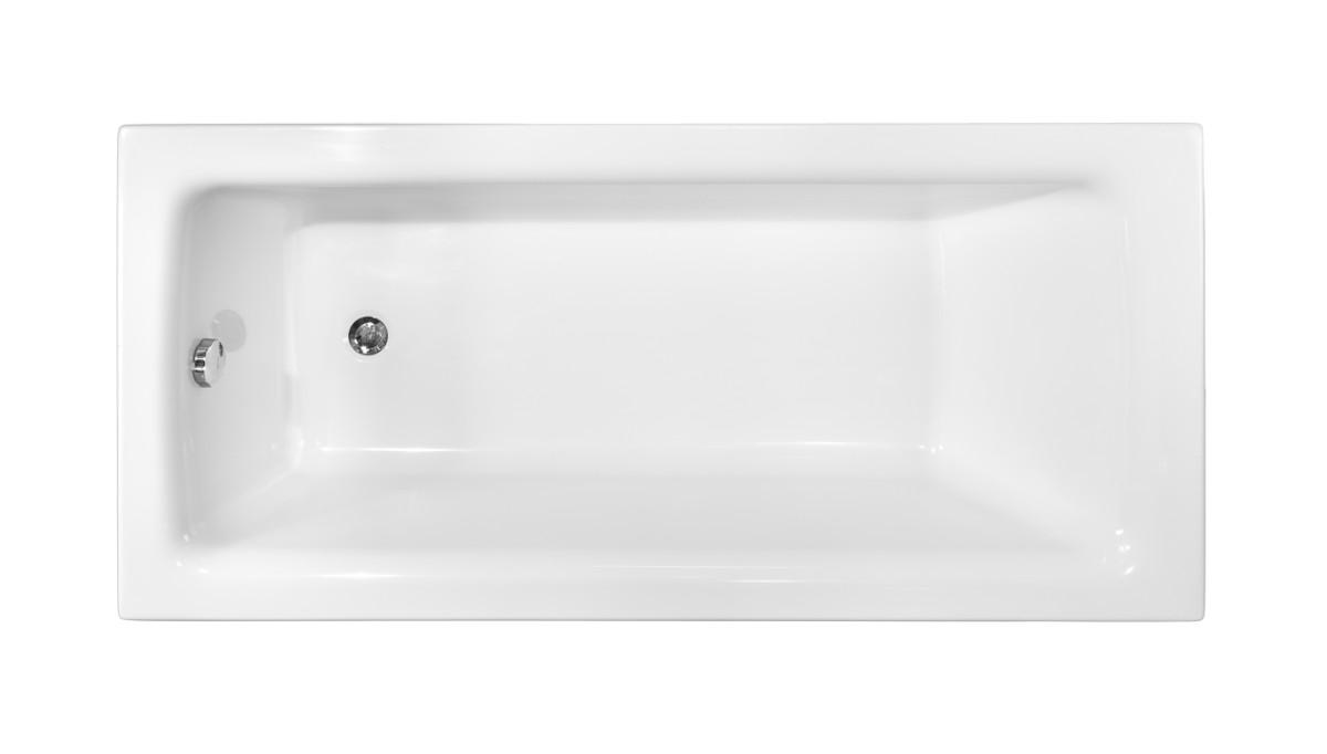 Маленькая акриловая ванна  Besco Talia   вид сверху.