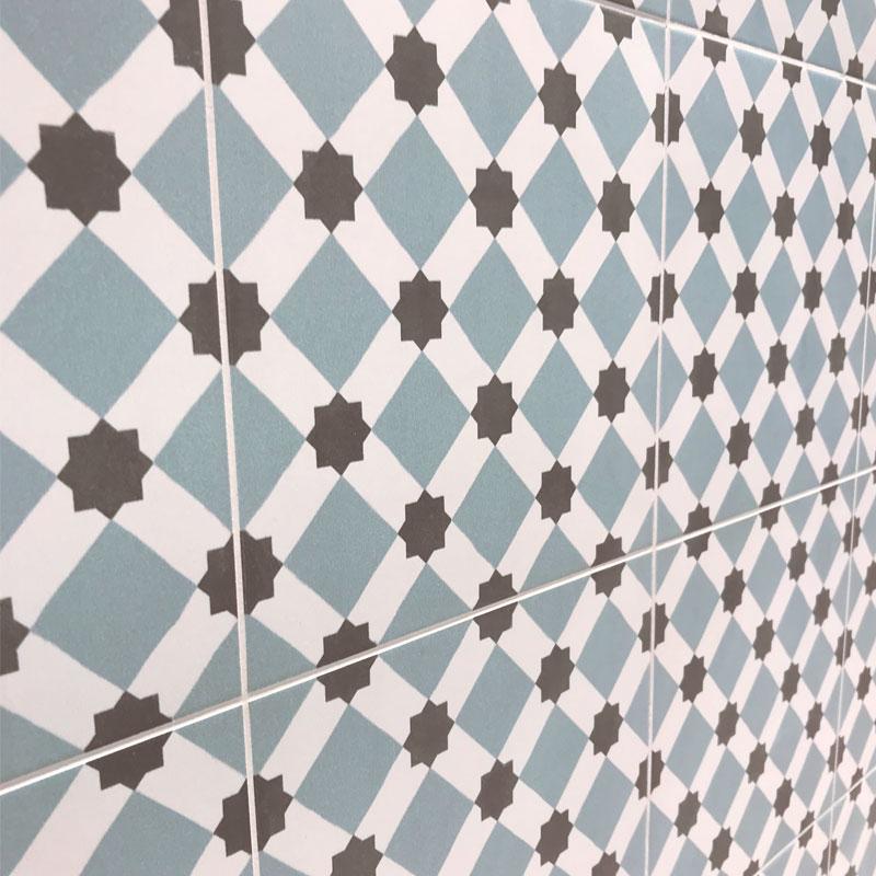 Плитка BRIXTON 45x45 Timeless в интерьере на стене
