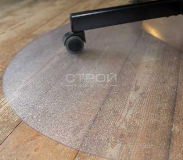 Круглый защитный коврик под кресло с поверхностью шагрень
