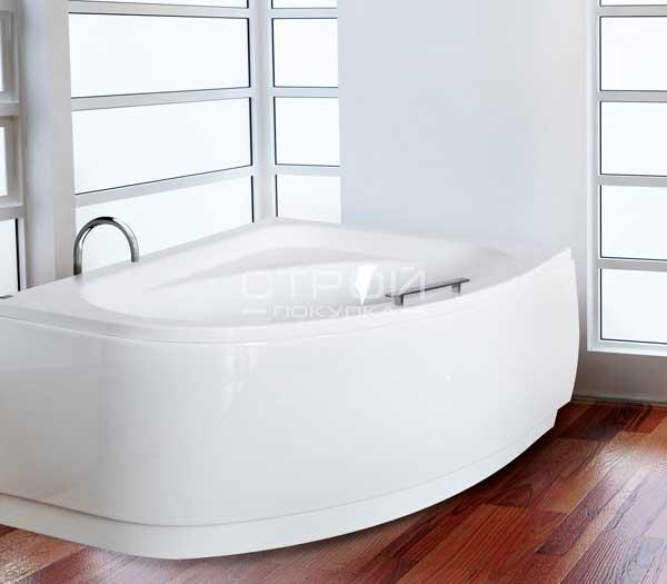 Ванна с скругленным углом Cornea Besco - асимметричная ванная.