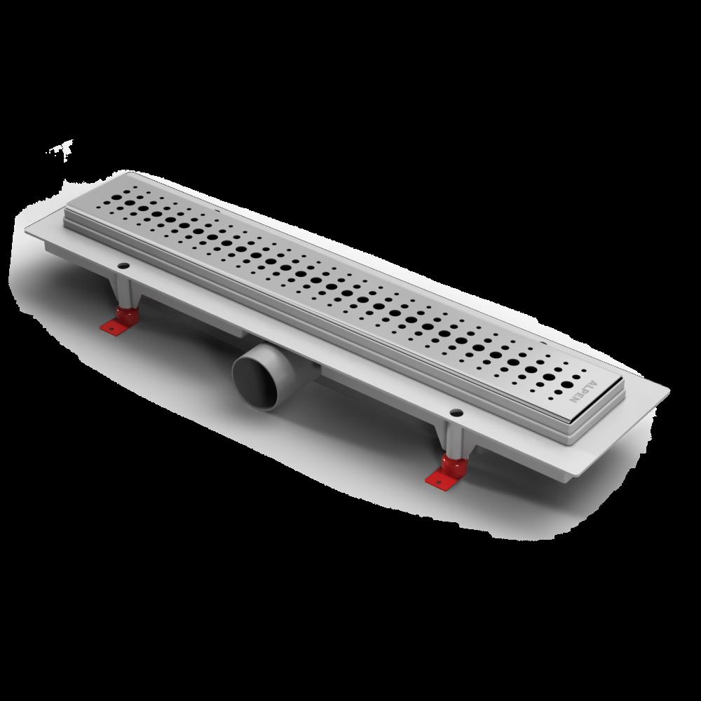 Водоотводящий желоб для душа Alpen Basic ( матовая или глянцевая решетка).