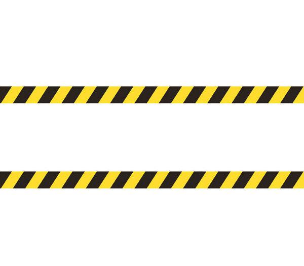 Формуемые ленты черно-желтого сигнального цвета
