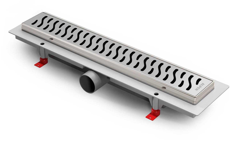 Душевой трап Harmony Alpen  с рамкой из нержавеющей стали.