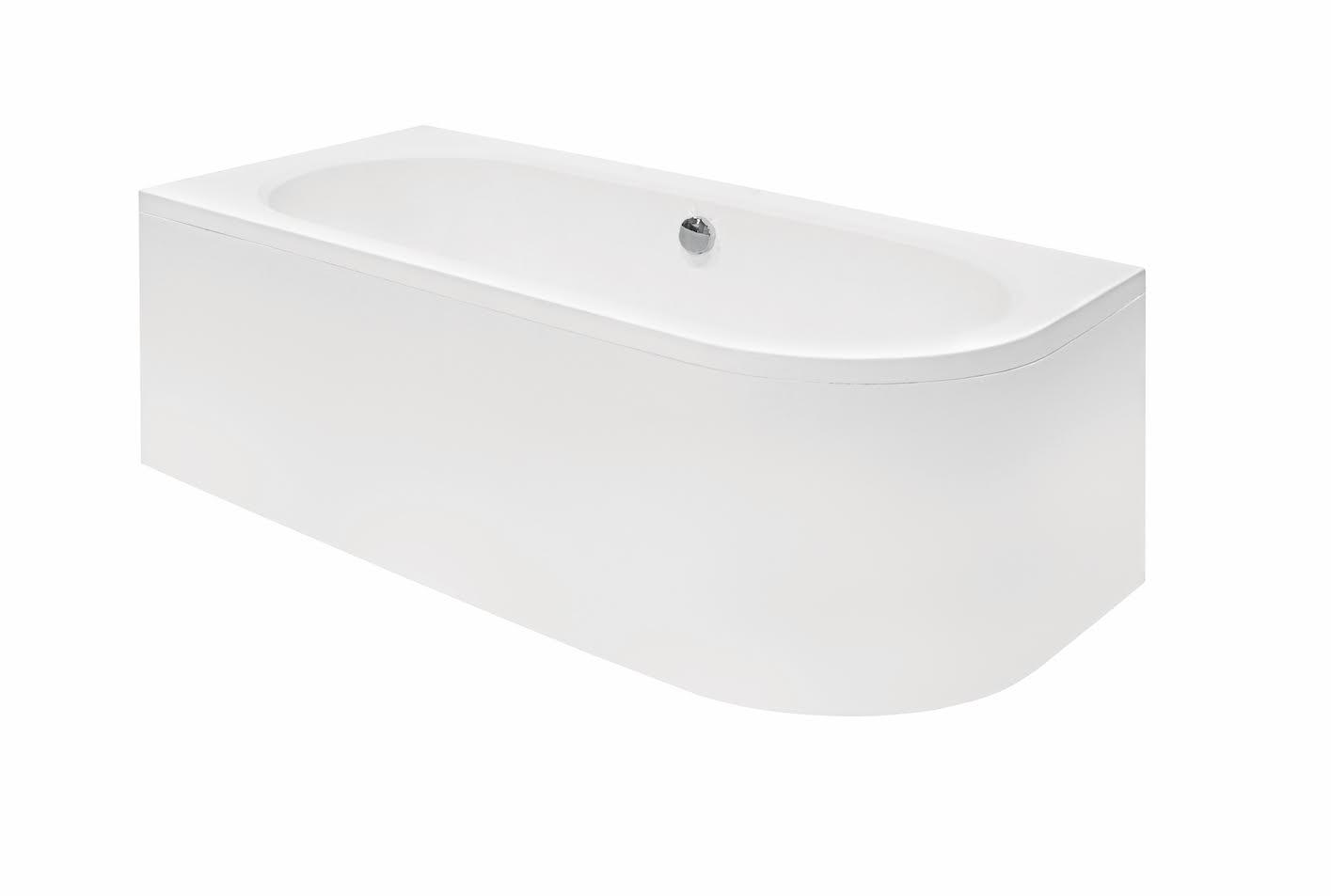 Вид на акриловую ванну Besco сбоку.
