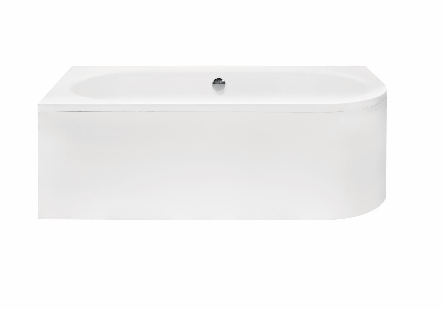 Вид на акриловую ванну Besco спереди.