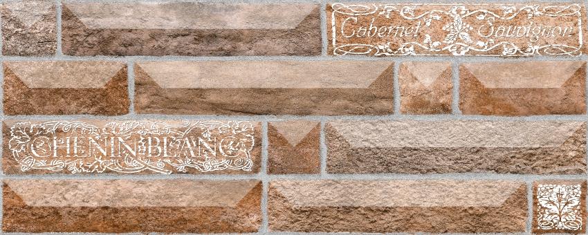 Настенная плитка Вавилон 4 тип-1 коричневый
