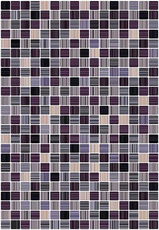 Гламур 4Т 27,5х40 настенная плитка микс ежевичного цвета