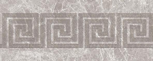 Эллада 7 Декор тип-1 20х50 декор настенный коричневого цвета с геометрическим орнаментом