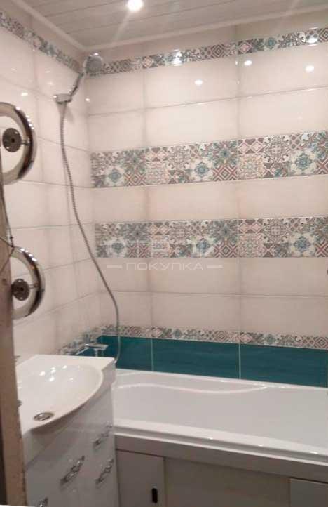 Интерьер ванной  с плиткой Эклипс от завода Азори.