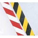 Предупреждающая лента красно-белая и желто-черная