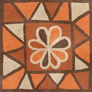 Африка mix Н1Б040 18,6х18,6 см декор напольный матовый блеск