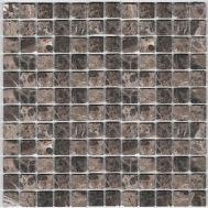 Dark Emperador мозаика из камня 1,5х1,5 см DAO-502-23-4