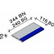 Рельефная доборная плитка с маркером Interbau RP3 244x119x10 №906-788 белая RH C