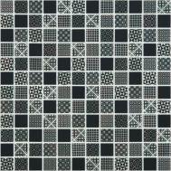 Black Born стеклянная мозаика 2,5х2,5 см